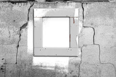 Window wall white old painting abstract wall cracked.jpg Stock Images
