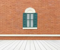 Window with wall and wood floor Royalty Free Stock Images