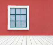 Window with wall and wood floor Royalty Free Stock Photos