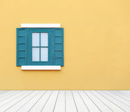 Window with wall and wood floor Royalty Free Stock Image