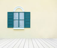 Window with wall and wood floor Stock Photos