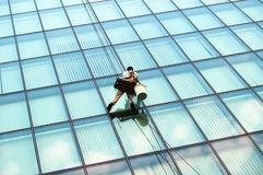 Window washer Stock Photo