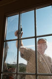 Window washer stock photos