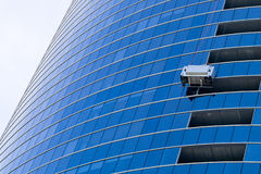 Window washer at work Royalty Free Stock Images