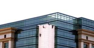 Window washers Royalty Free Stock Photo