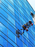 Window washers Stock Photo