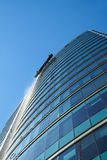 Window washers on high rise Royalty Free Stock Images