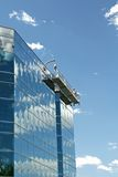 Window Washers Scaffold Royalty Free Stock Photos