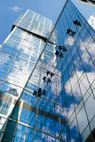 Window washers Stock Photography