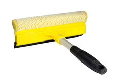 Window washing brush Royalty Free Stock Image