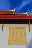 Window at wat Benchamabophit in Thailand Stock Photography