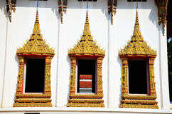 Window of Wat Phra Thaen Rang Worawihan. Wat Phra Thaen Rang Worawihan is a famous temple in Kanchanaburi. Many Kings have made pilgrimages here to visit a long royalty free stock photo
