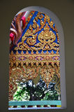 Window of Wat tham sua in Kanchanaburi Thailand Stock Images
