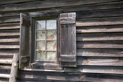 Window on Weathered Barn Royalty Free Stock Photography