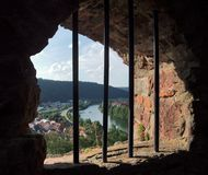 Window at Wertheim Castle Stock Image