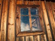 WIndow where the firewood live Stock Image