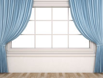 Window with a white background and curtains Royalty Free Stock Photo