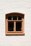 Window in white brick wall Royalty Free Stock Images