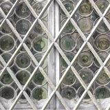 Window with white grate Royalty Free Stock Images