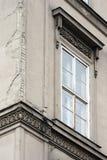 Window. White window on gray facade Stock Images