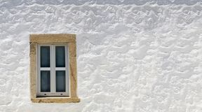 Window white in greek island for Background Patmos Stock Photography