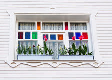 Window in white house Stock Photo