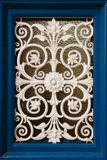 Window of white iron decoration Royalty Free Stock Photo