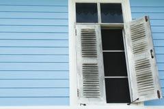 White window. Window white upvc curtain windows color Royalty Free Stock Photo