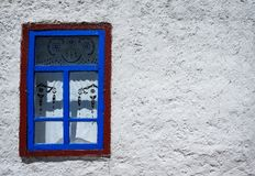 Window on the white wall Royalty Free Stock Photos