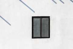 Window on white wall Royalty Free Stock Image