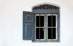 Window in a white wall Royalty Free Stock Photo