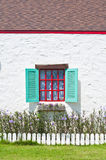 Window on white wall of vintage house style Royalty Free Stock Photos