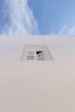 Window of whitewashed house Royalty Free Stock Photo