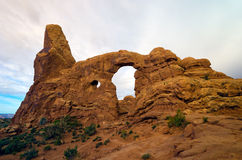 Window in a Window in Arches National Park. Window in a Window shot in Arches National Park in June Royalty Free Stock Photo
