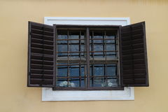 Window with window shutter, Milotice castle Royalty Free Stock Photography