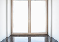 Window with windowsill Stock Image