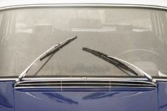 Window with wipers of vintage car Stock Image