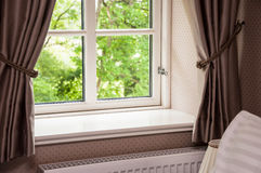 Window With Curtains Stock Photos