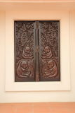 Window wood  carving Stock Image