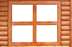 Window in a wood cottage Royalty Free Stock Image