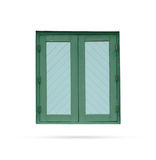 Window wood modern old on white background Royalty Free Stock Photography