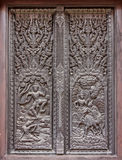 Window woodcarving in temple Stock Image
