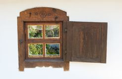 Window is wooden Royalty Free Stock Photography