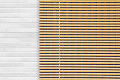 Window wooden blind Royalty Free Stock Images