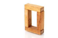 Window of wooden blocks Royalty Free Stock Image