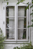 Window in wooden building Royalty Free Stock Photos