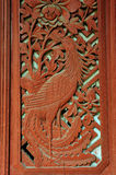 Window wooden carved of house, Chinese style. Stock Image