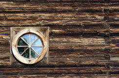Window in wooden church Royalty Free Stock Image