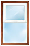A window with wooden frame Royalty Free Stock Photo