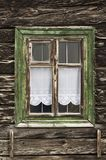 Window with wooden frame in old house Stock Photos